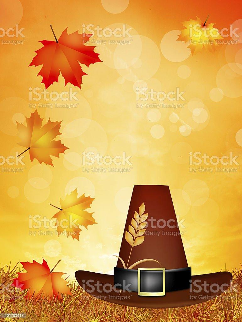 Thanksgiving postcard royalty-free stock vector art