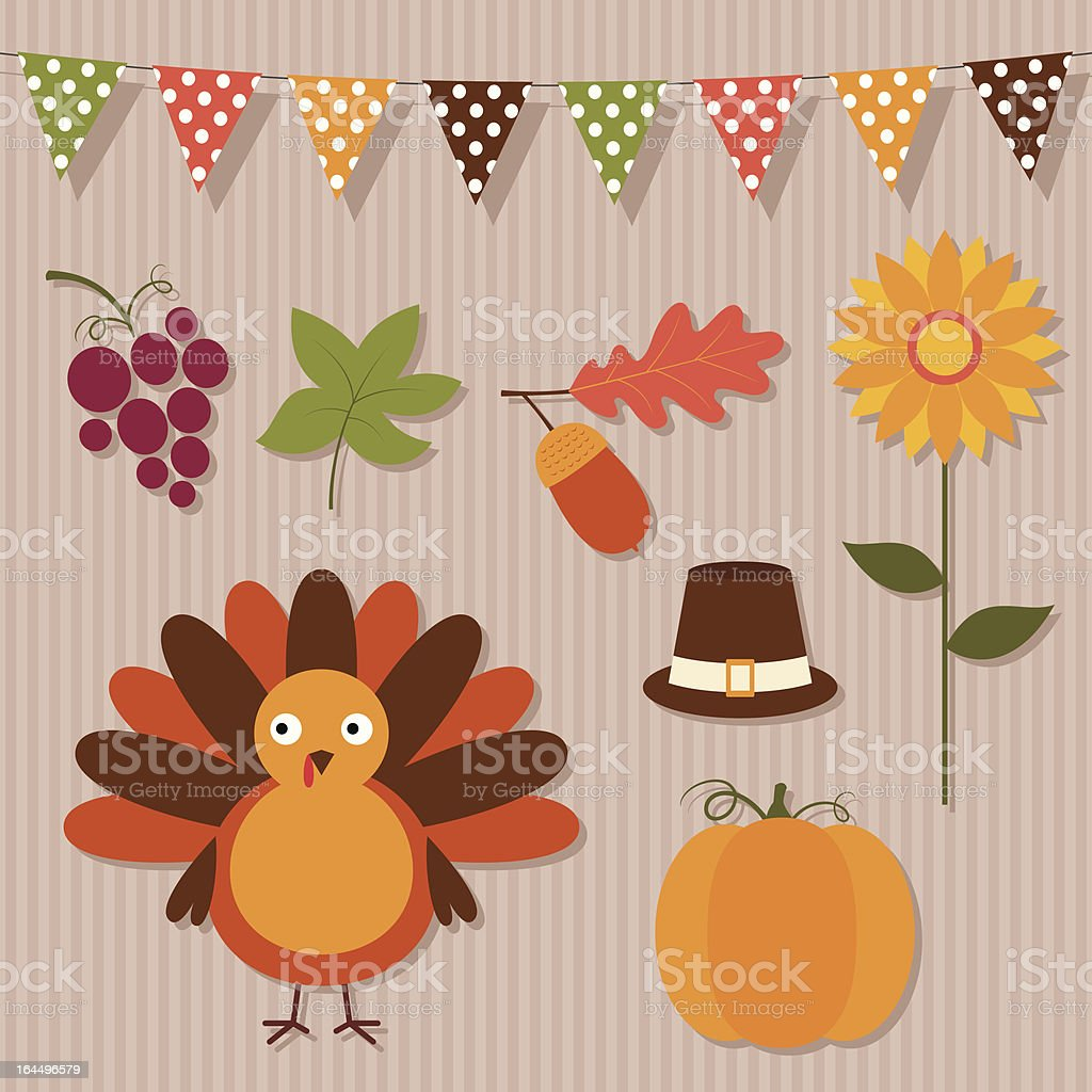 Thanksgiving set royalty-free thanksgiving set stock vector art & more images of acorn
