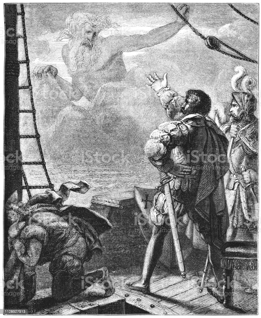 Adamastor the adamastor appears before lusus from os lusíadasluís