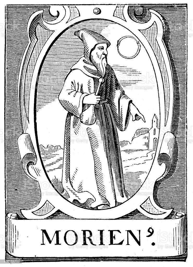 The Alchemist Morienus vector art illustration