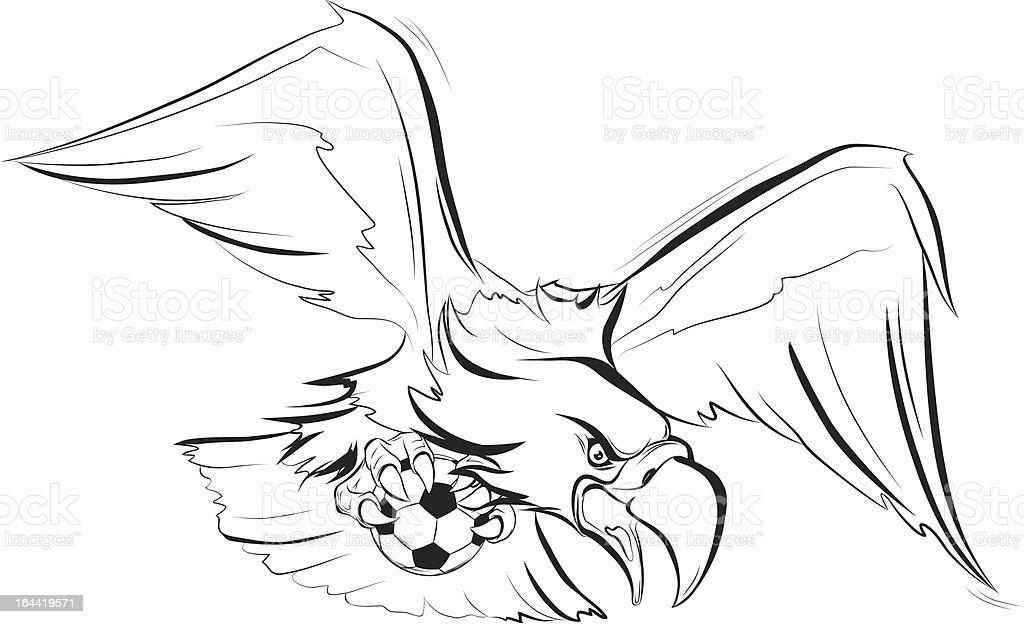 The amazing eagle vector art illustration