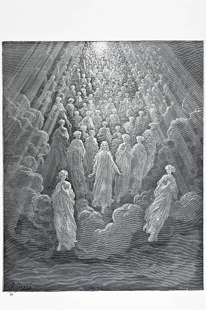 illustrazioni stock, clip art, cartoni animati e icone di tendenza di la angels - dante alighieri