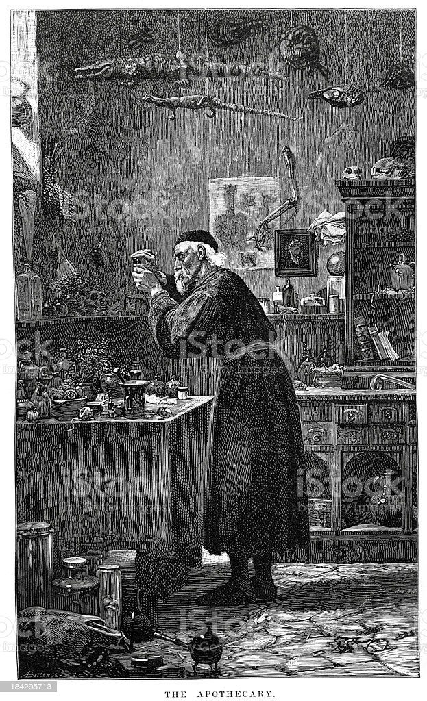 The Apothecary vector art illustration
