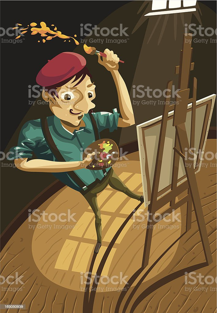 The Artist vector art illustration