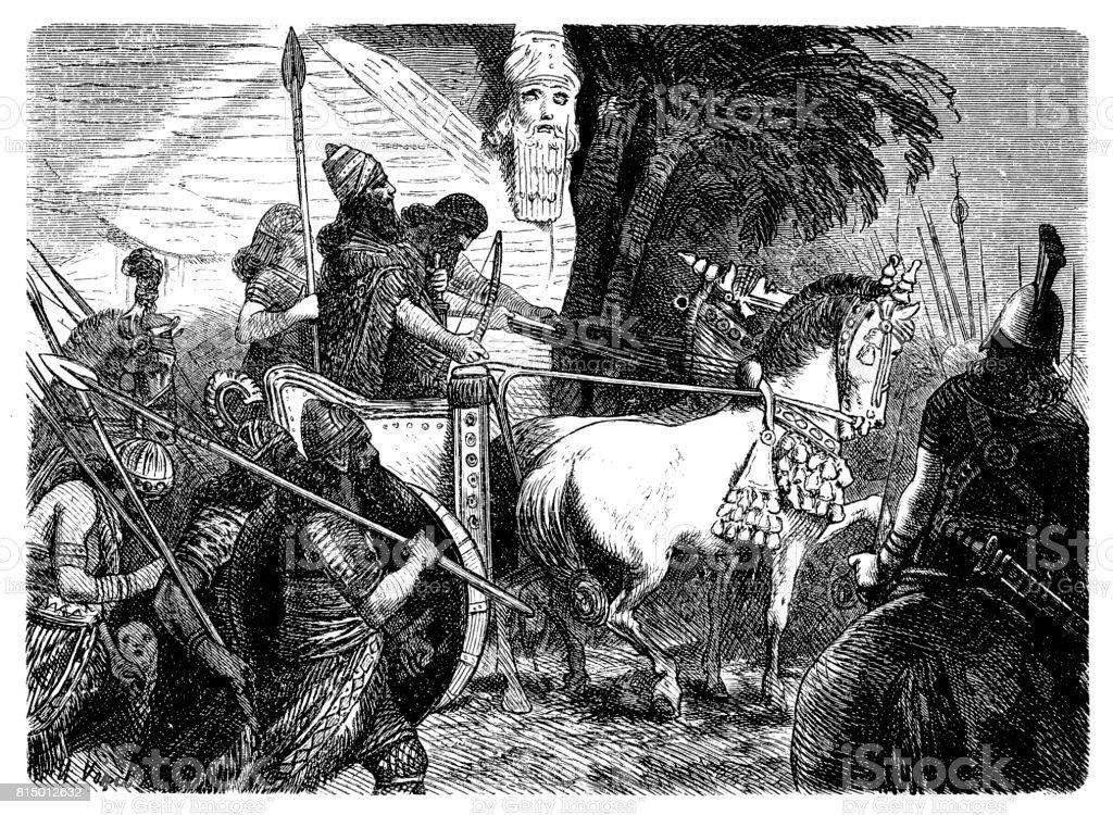 アッシリアの軍隊は戦争に行く - アッシリアのベクターアート素材や ...