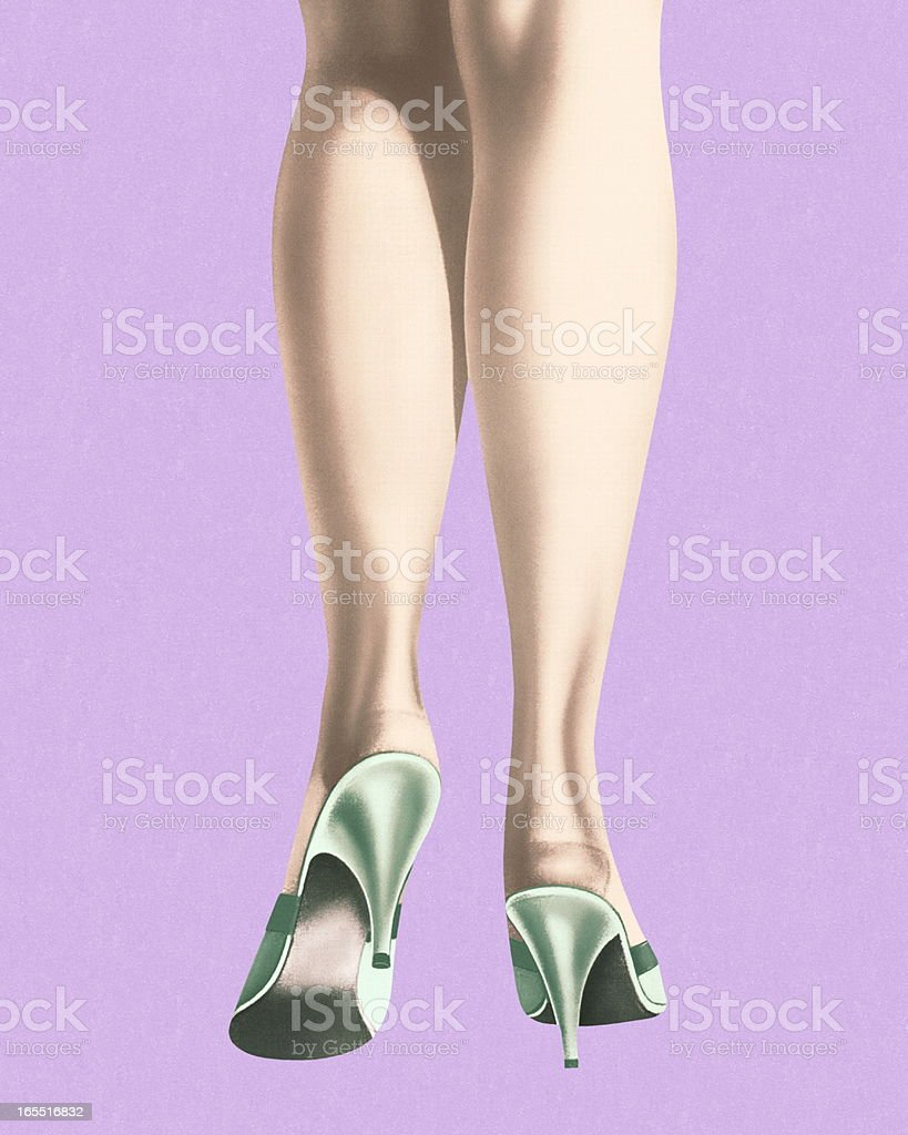 The Back of a Woman's Legs royalty-free stock vector art
