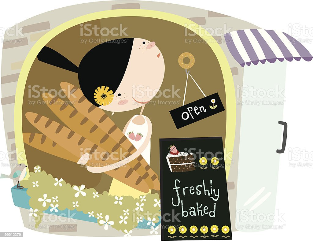 the bakery - Royalty-free Adult stock vector
