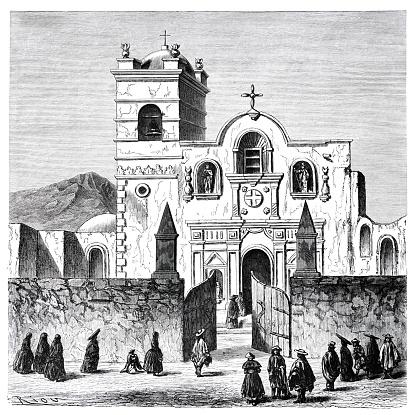 The Basilica of San Francisco de Arequipa Peru 1862