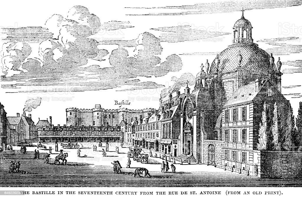 La Bastille au XVIIe siècle - Illustration vectorielle