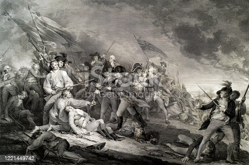 istock The Battle of Bunker Hill, 1775 1221449742