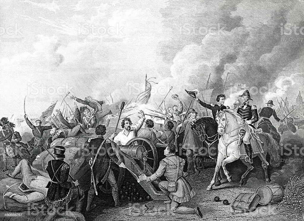 The Battle Of New Orleans vector art illustration
