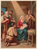 The Birth of Christ, chromolithograph, published in 1886