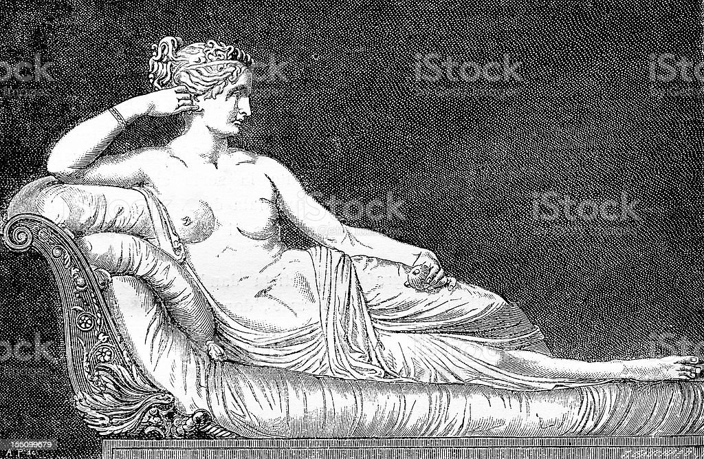 La Venere Borghese by Canova royalty-free stock vector art