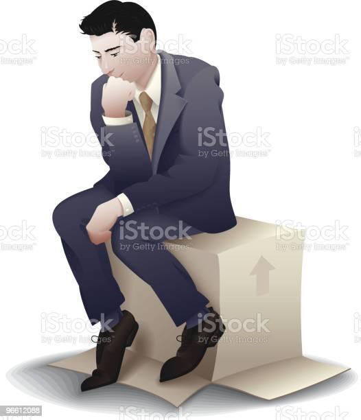 The Business Thinker-vektorgrafik och fler bilder på Affärsman