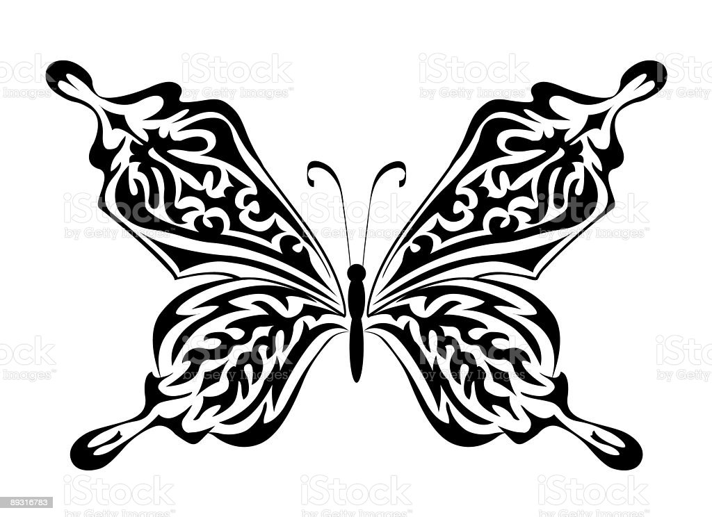 The butterfly royalty-free stock vector art