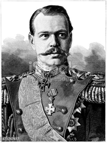 The Cesarevitch, The Grand-Duke Alexander Alexandrovitch, second son of the Czar of Russia, born 1845, who became the heir after the death of his elder brother Nicholas. He became Alexander III and died in 1894. An illustration from