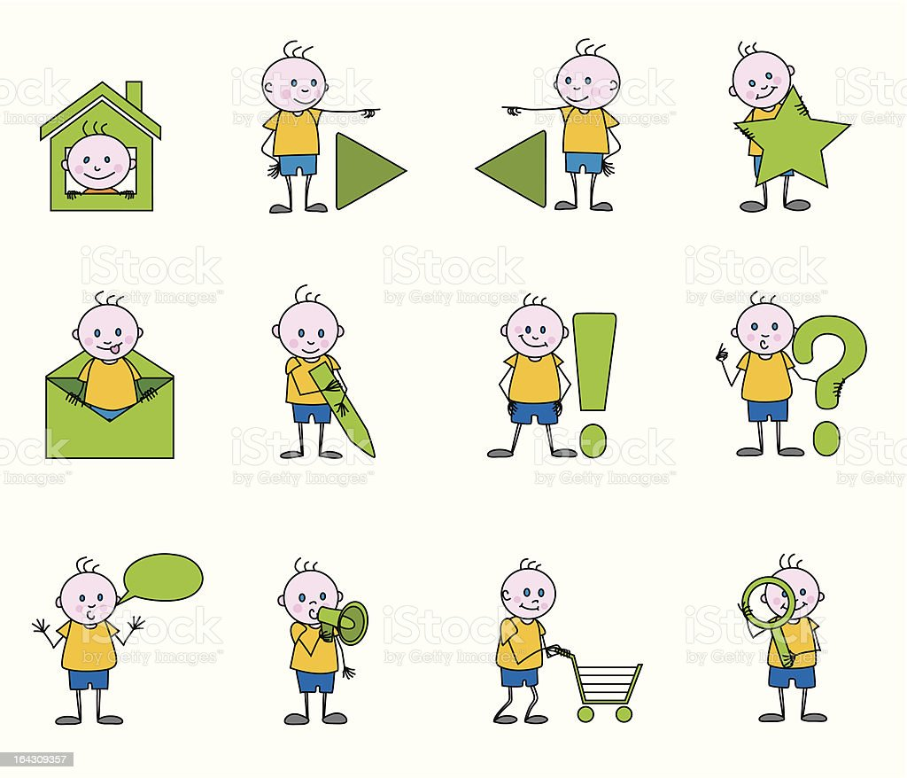 the children web icons royalty-free stock vector art