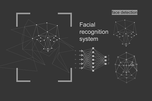 The concept of recognition. diagram of the grid and neural network algorithm.