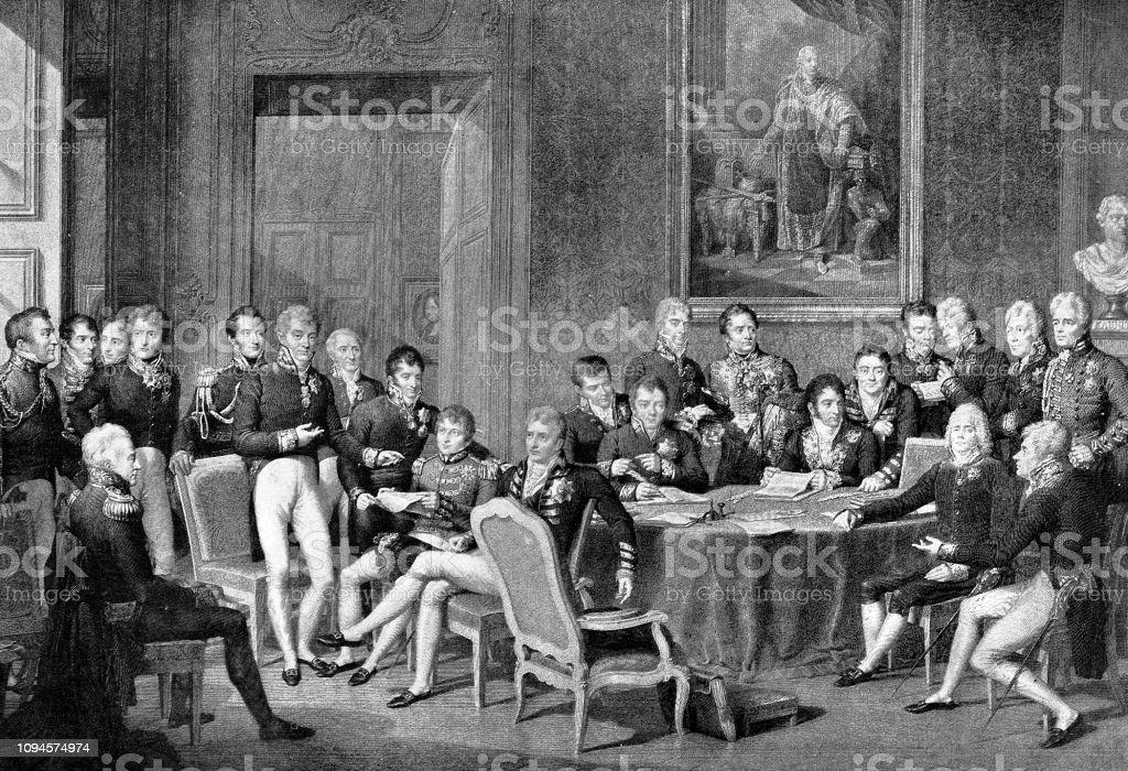 The Congress of Vienna 1814 - Illustrazione stock royalty-free di 2019