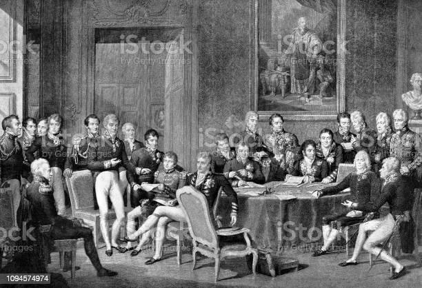 The Congress Of Vienna 1814 - Immagini vettoriali stock e altre immagini di 2019