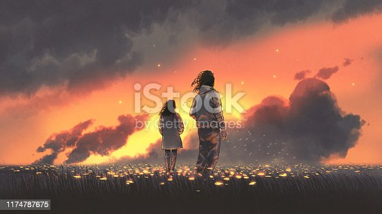 istock the couple in glowing flowers land 1174787675