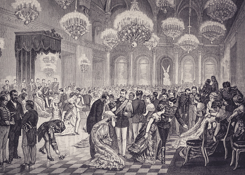 history, vintage, illustration, retro style, 19th Century Style, old, vintage, dancing