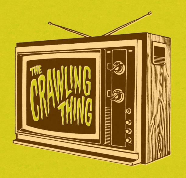 ilustrações de stock, clip art, desenhos animados e ícones de o gatinhar coisa na tv - video