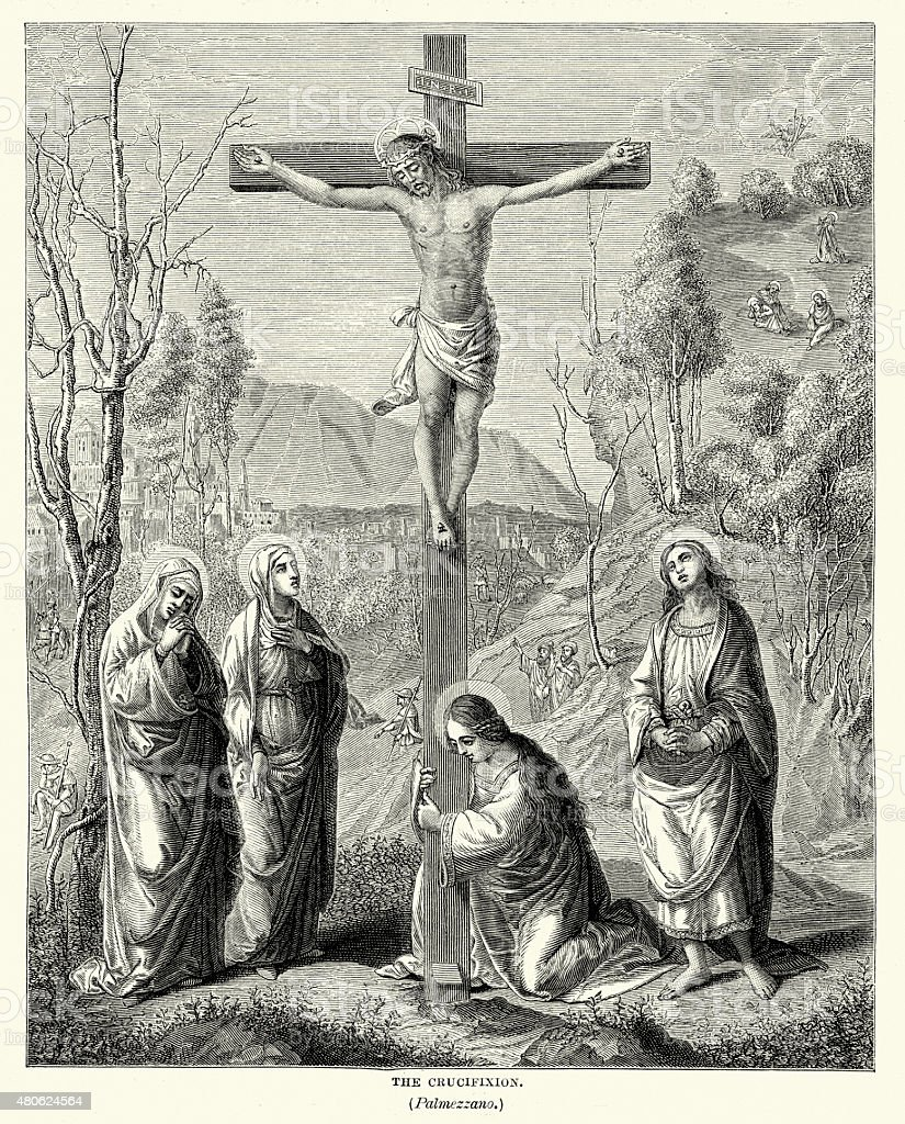 The Crucifixion vector art illustration