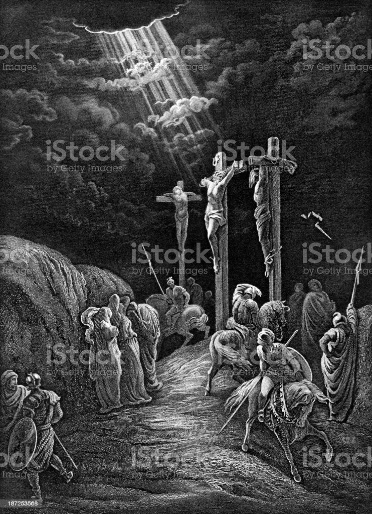 The Crucifixion Of Jesus vector art illustration
