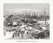 istock The Custom House in Manila, Philippines, wood engraving, published 1897 1143479724
