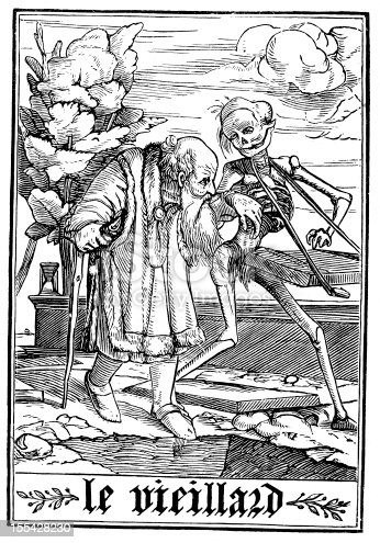 The Dance of Death (Danse Macabre), after Hans Holbein. The Old Man