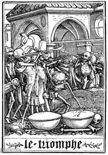 The Dance of Death (Danse Macabre), after Hans Holbein. the triumph of death
