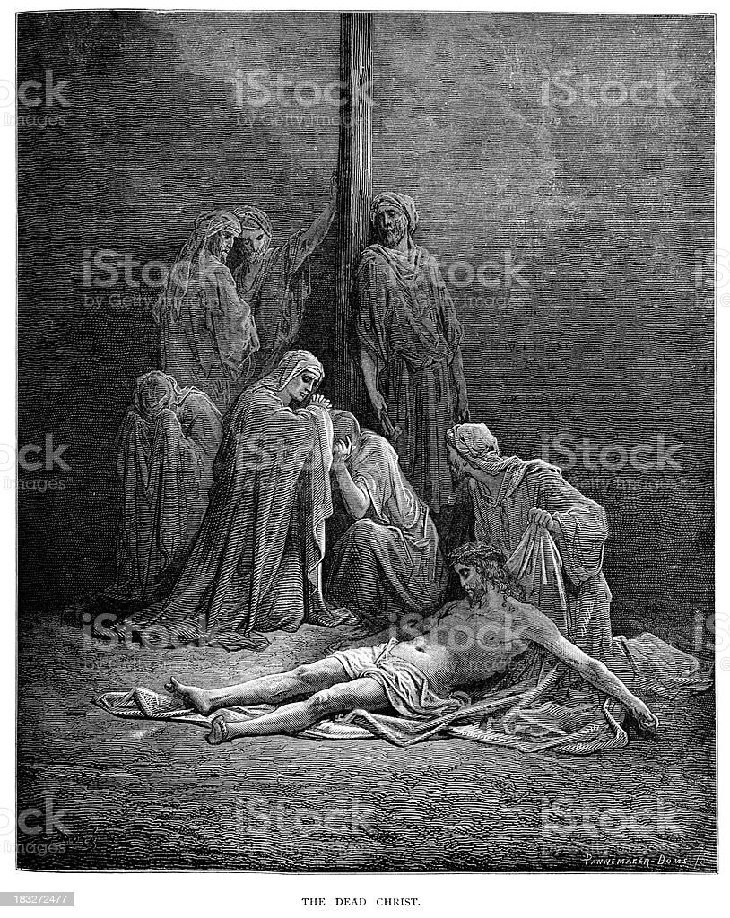 The Dead Christ royalty-free stock vector art