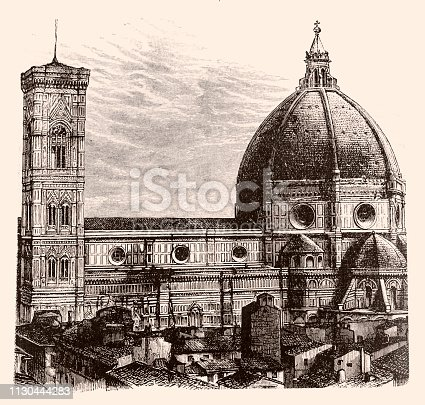 istock The dome of the Cathedral of Santa Maria del Fiore ,Florence 1130444283
