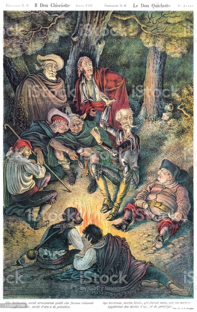 The Don Quixote Satirical Cartoon Weekly Of 1880 Stock