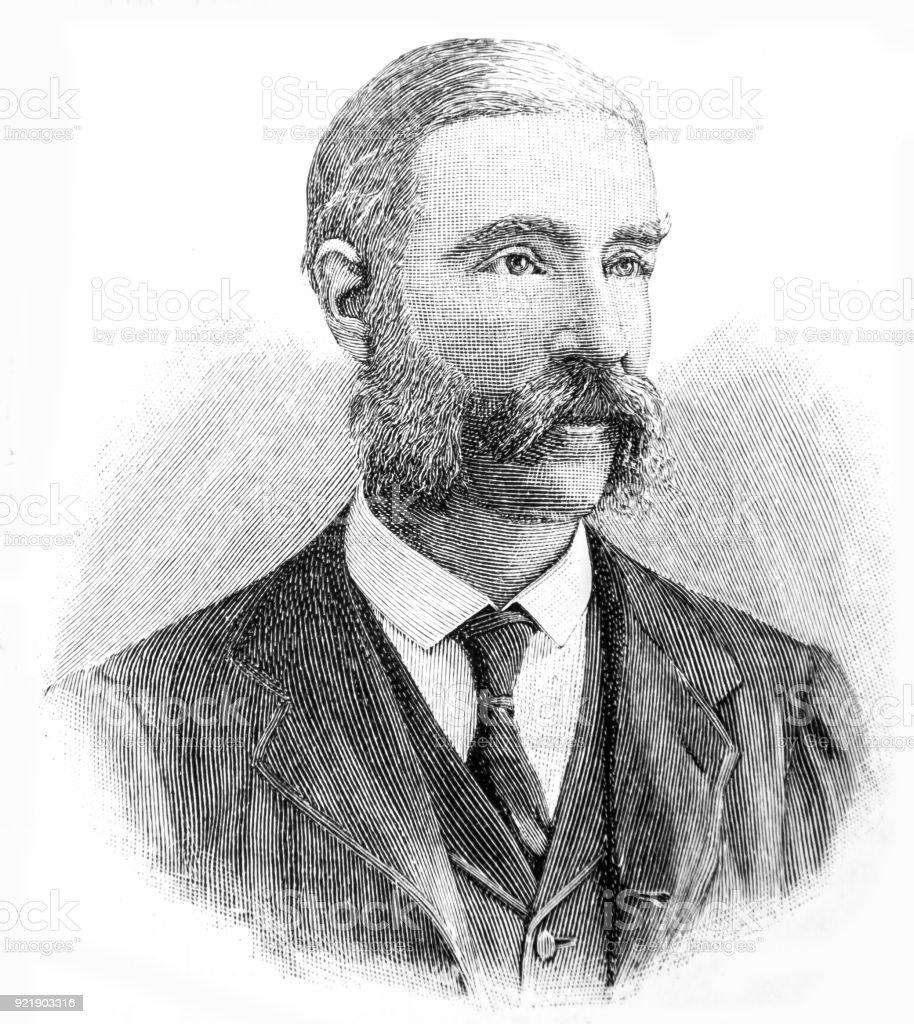 The Earl of Jersey 1865 vector art illustration