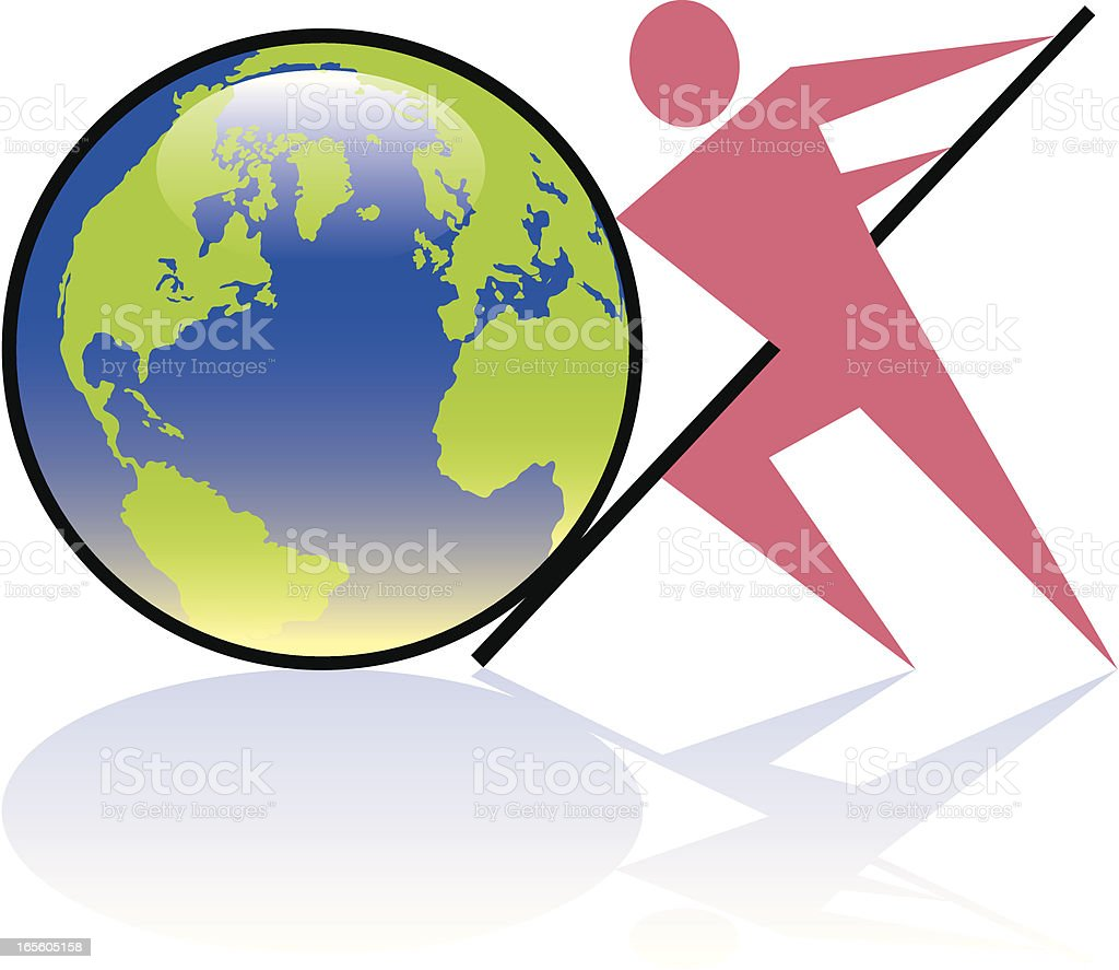 The earth moved two. royalty-free stock vector art
