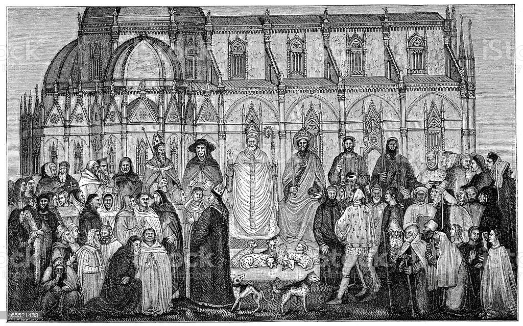 The Ecclesiastical Hierarchy vector art illustration
