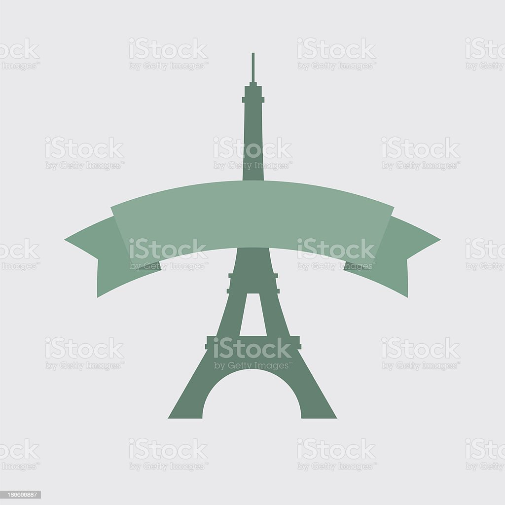 The eiffel tower - raster image royalty-free stock vector art