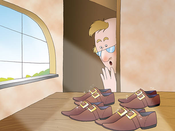 Best Elf Shoes Illustrations, Royalty-Free Vector Graphics ...