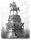 istock The equestrian statue of Frederick the Great is an outdoor sculpture in cast bronze at the east end of Unter den Linden in Berlin, honoring King Frederick II of Prussia 946803314