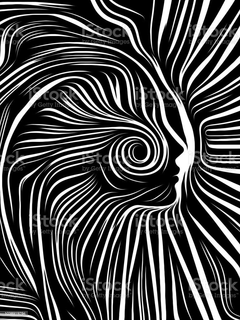 The Escape of Inner Lines vector art illustration