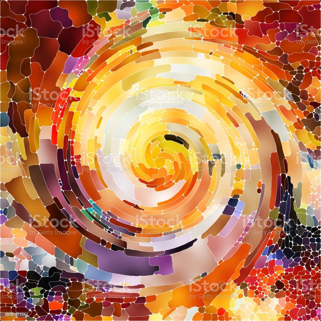 The Escape of Spiral Color vector art illustration
