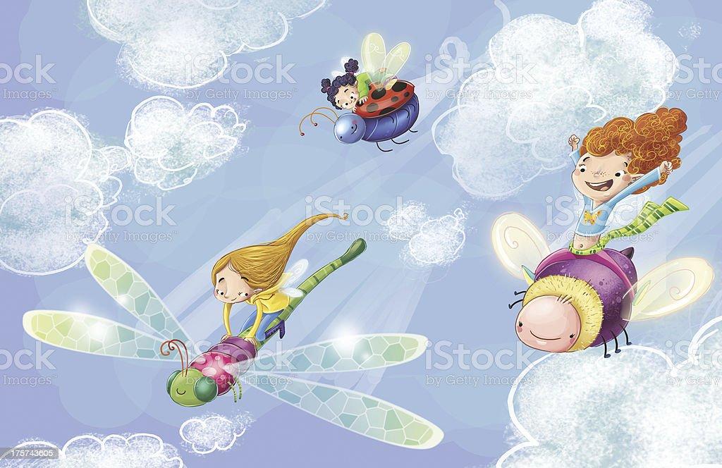 The fairies royalty-free stock vector art