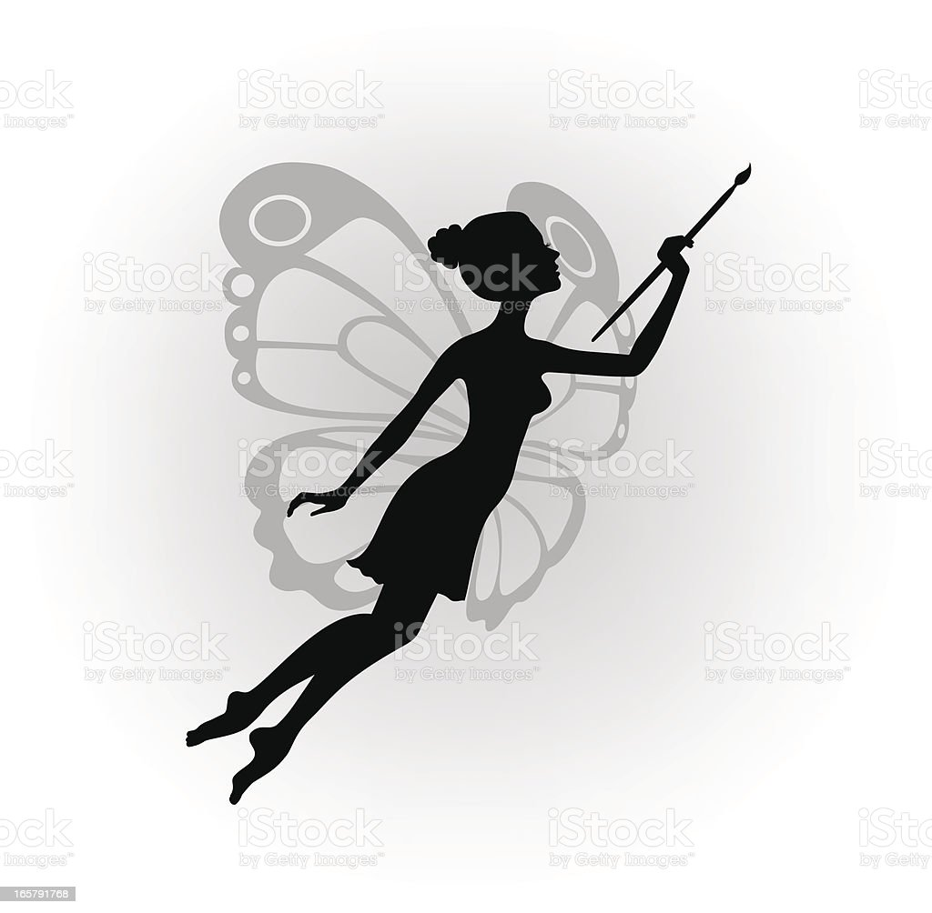 The fairy of painting royalty-free stock vector art