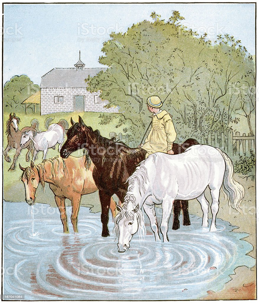 The Farmer's Boy royalty-free stock vector art