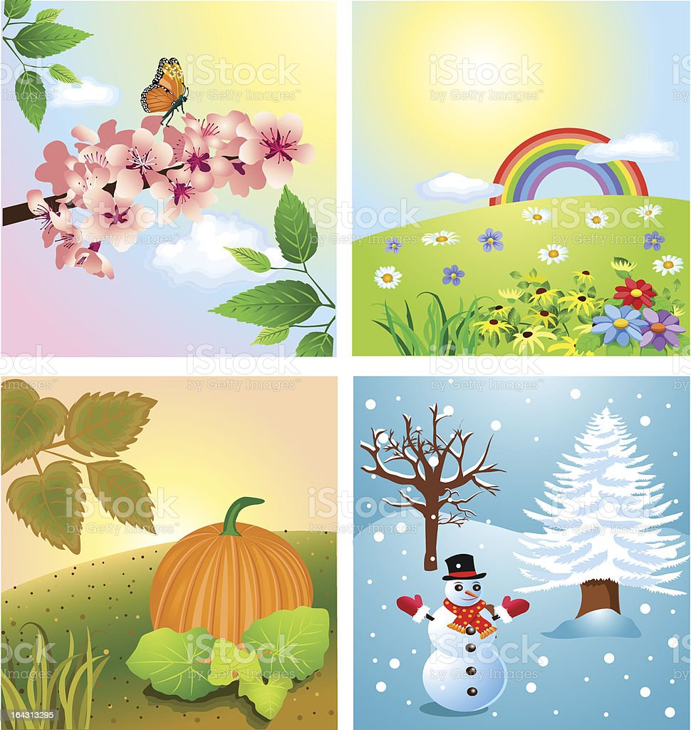 The Four Seasons royalty-free stock vector art