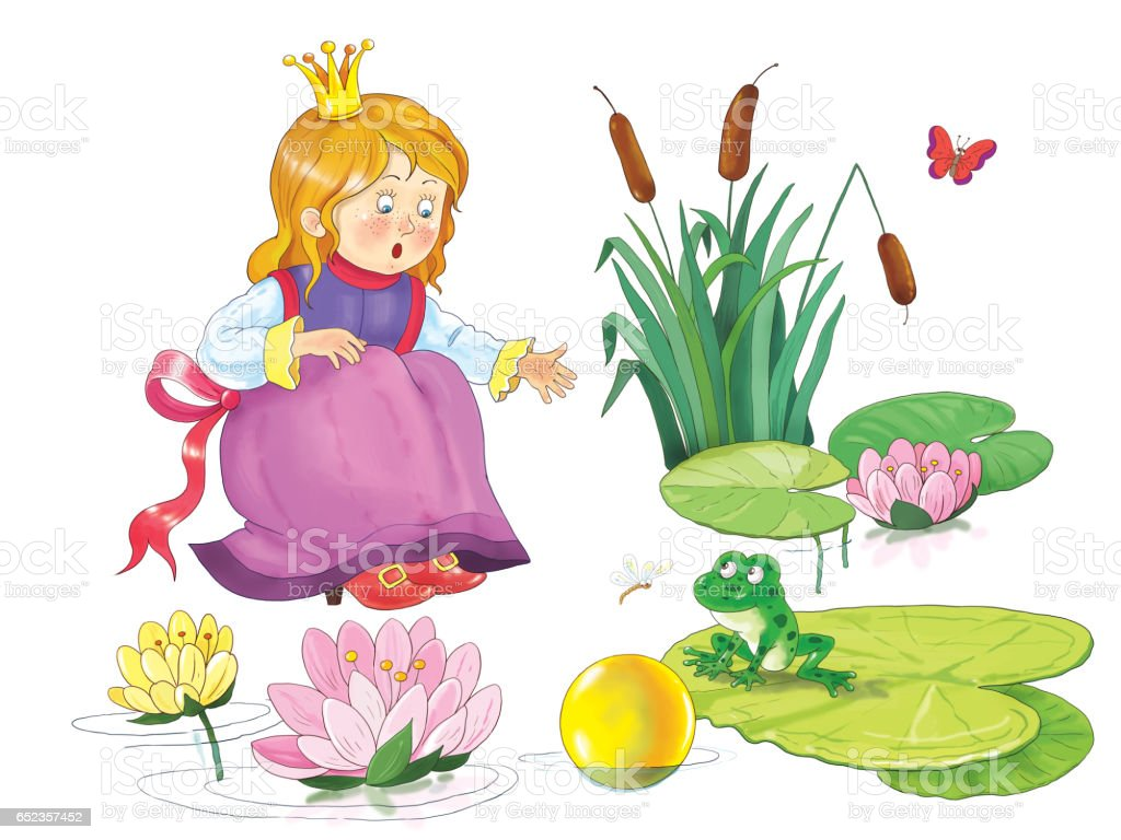 The frog prince fairy tale illustration for children coloring page the frog prince fairy tale illustration for children coloring page cute and izmirmasajfo