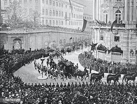 istock The funeral of Empress Elisabeth of Austria, Sissy, on September 17, 1898, Vienna, funeral procession on the way to the Capuchin Church 1296163388