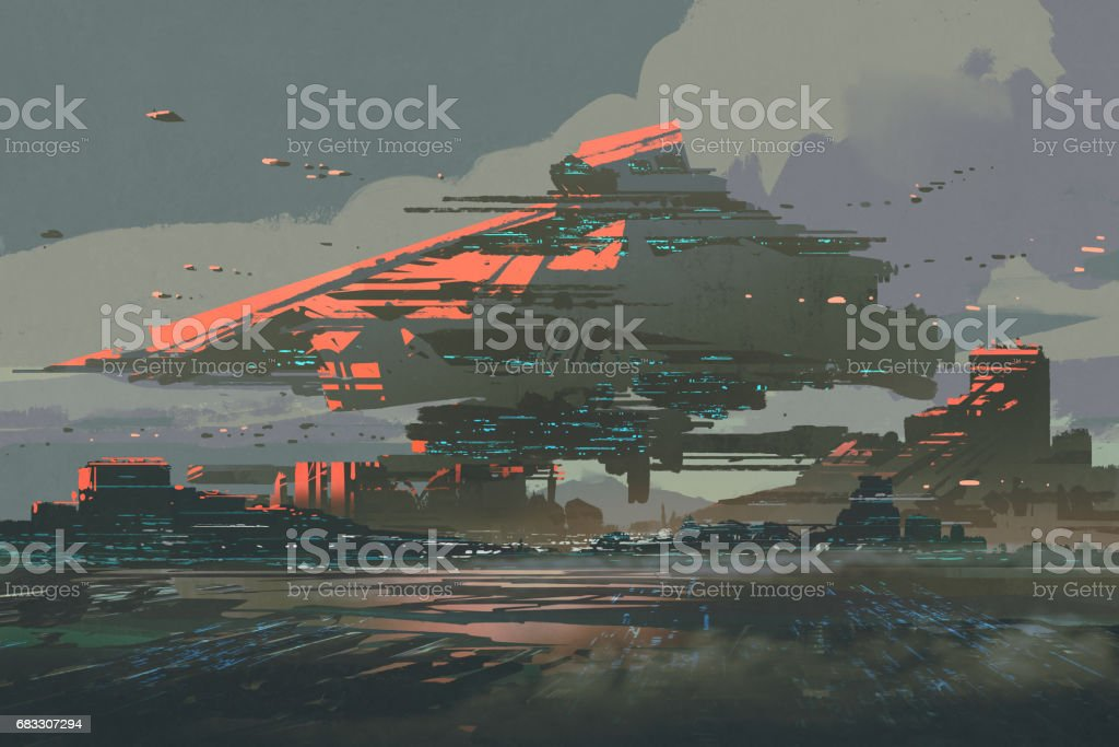 the futuristic colony on a planet with mega-structures the futuristic colony on a planet with megastructures - stockowe grafiki wektorowe i więcej obrazów akwarela royalty-free